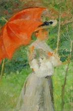 Matej Sternen's famous work: The Red Parasol