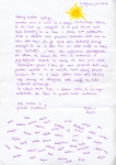 "Thanksgiving letter from children who went on an excursion to the Postojna cave as a part of the project ""Never alone"""