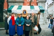 The activity of the club is presented by the members of Lions Club Ljubljana on the Christmas stand in Ljubljana.